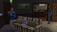 James being told about the pregnancy