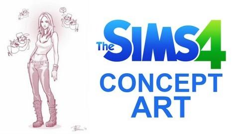 The Sims 4 Concept Art Timelapse