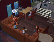 Day family outtake - the boys eating dinner together