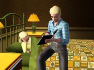 Ethan reading Darlene