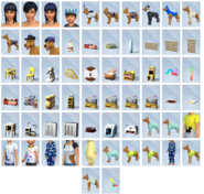 Sims4 mi primera mascota CAS Objetos