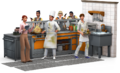 The Sims 4- Dine Out Render
