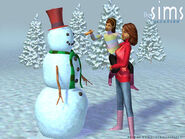 Sims1VacationMakingSnowman