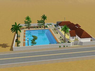El solar comunitario con piscina de las Rarezas versión de Luis Simspedia