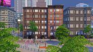 San Myshuno brick apartment building
