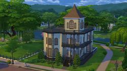 Goth Manor (TS4) Build mode trailer.png