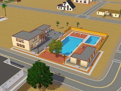 """Centro de natación """"Fiesta"""" hecho por Luis Simspedia"""