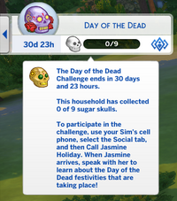 Once the event is activated, a UI tab pops up on the top left of the screen