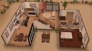 Back of desert house