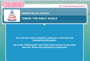 Check the daily goals