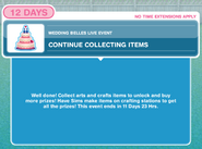 Continue collecting items
