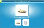 Lemonade Glass Set & Table