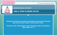 Use a coin flower patch