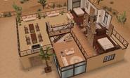 Second floor of desert house