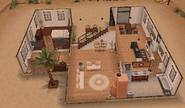 Front of desert house