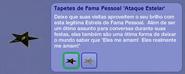 Tapetes de Fama Pessoal 'Ataque Estelar' (descrição)
