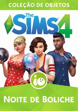 Capa The Sims 4 Noite de Boliche (Primeira Versão).png