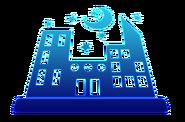 Ícone tela de carregamento centro da cidade