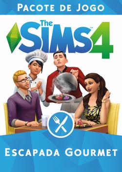 Capa The Sims 4 Escapada Gourmet (Primeira Versão).png