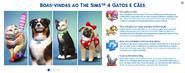 Gatos e Cães (Mensagem de Boas-Vindas)