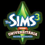 Logo The Sims 3 Vida Universitária.png