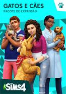 Capa The Sims 4 Gatos e Cães