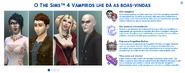 The Sims 4 Vampiros (Mensagem de Boas-Vindas)