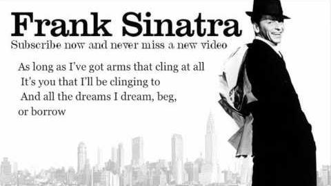 Frank Sinatra - All My Tomorrows - Lyrics