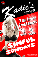 Are you coming to Kadie's Club for Sinful Sundays