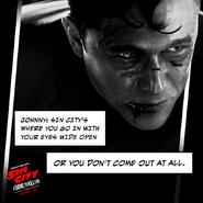 Joseph Gordon-Levitt is Johnny in Frank Miller's Sin City - A Dame To Kill For.