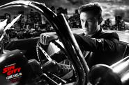 Johnny drives