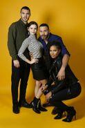 NYCC HollywoodLife Portraits Alex Roe, Eline Powell, Ian Verdun and Fola Evans-Akingbola 8-10-17