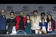 WonderCon 2018 Panel Eric Wald, Rena Owen, Ian Verdun, Eline Powell, Alex Roe, Sibongile Mlambo, Emily Whitesell (2)