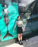 Siren Eline Powell at Live Mermaid Exhibit NYCC 7-10-17
