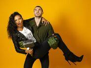 NYCC HollywoodLife Portraits Fola Evans-Akingbola and Alex Roe (2) 8-10-17