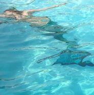 BTS Mermaid in a pool