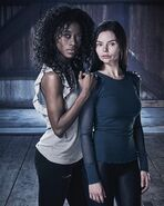 Freeform Siren S1 Character Poster Donna and Ryn