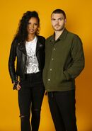 NYCC HollywoodLife Portraits Fola Evans-Akingbola and Alex Roe 8-10-17