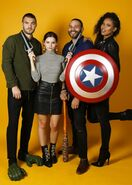 NYCC HollywoodLife Portraits Alex Roe, Eline Powell, Ian Verdun and Fola Evans-Akingbola (4) 8-10-17
