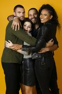 NYCC HollywoodLife Portraits Alex Roe, Eline Powell, Ian Verdun and Fola Evans-Akingbola (3) 8-10-17
