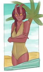 Beach when