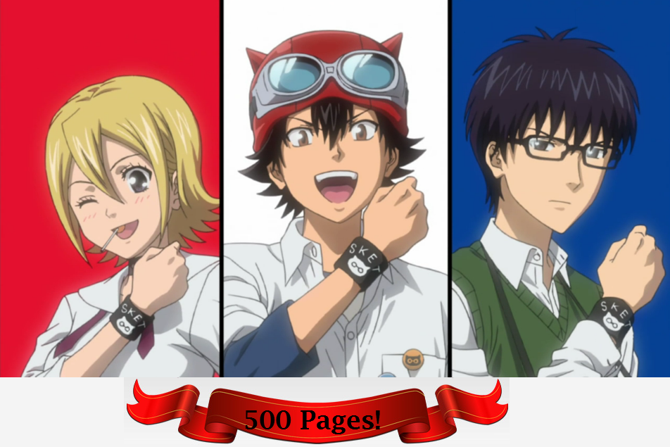 Takashichea/Sket Dance Wikia News: 500 Pages Reached!