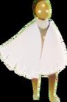 Ascended white cape