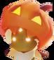 Hair halloween pumpkin