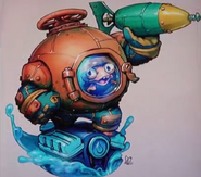 Diving Helmet Fish 2