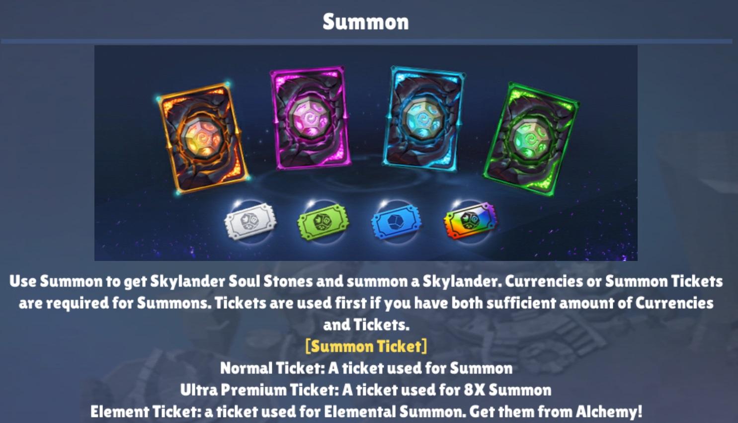 Summon Tickets