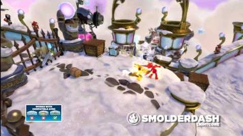 Meet the Skylanders LightCore Smolder Dash