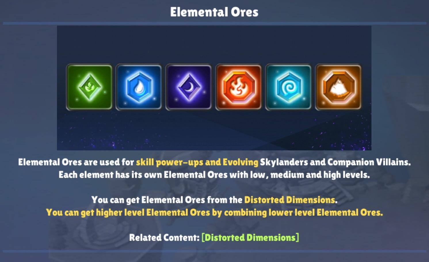Elemental Ores