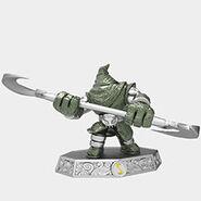 Steel plated hood sickle-Figur