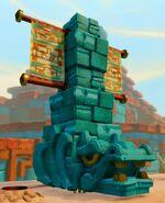 Golden Desert Hippo Statue